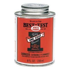Best-Test One Coat Rubber Cement with Brush in Cap 8oz