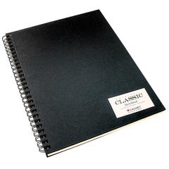 Cachet 11 x 14 Classic Black Wirebound Sketch Book