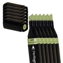 Heritage A-Line Alcohol Marker Spring Green 6/Box