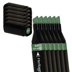Alcohol Marker Dark Green 6/Box