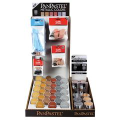PanPastel Ultra Soft Artists' Painting Pastel Metallic Display Assortment
