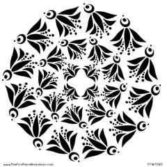 "6"" x 6"" Design Template Fly Bird Doily"