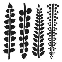"6"" x 6"" Design Template Four Ferns"