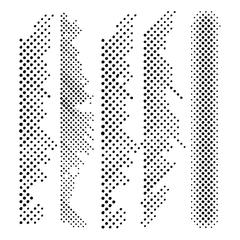"6"" x 6"" Design Template Halftone Borders"