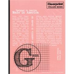 """Clearprint Vellum Gridded Sketchbook 8 1/2"""" x 11"""""""