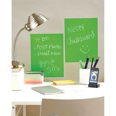 "Wallies 9"" x 12"" Peel & Stick Chalkboard Sheets Neon Green 2-Pack"