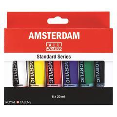 Royal Talens Amsterdam All Acrylic Standard Ser 6-Color Paint Set 20ml