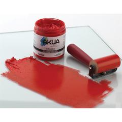 Akua Intaglio Printmaking Ink 8oz Scarlet Red