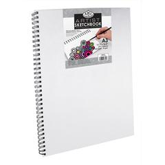 "11.6"" x 16.5"" Canvas Cover Wirebound Artist Sketchbook"