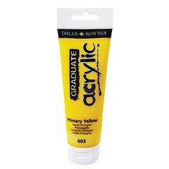 Daler-Rowney Graduate Graduate Acrylic Paint 120ml Primary Yellow