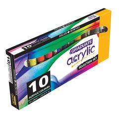 Daler-Rowney Graduate Graduate Acrylic Paint 10-Color 38ml Introductory Set