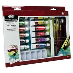 Royal & Langnickel Essentials 21-Piece Watercolor Painting Set
