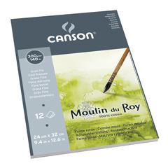 "Canson Moulin du Roy 9 2/5"" x 12 3/5"" Watercolor Cold Press Pad"