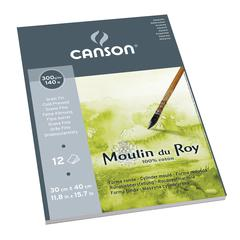 "Canson Moulin du Roy 11 4/5"" x 15 7/10"" Watercolor Cold Press Pad"