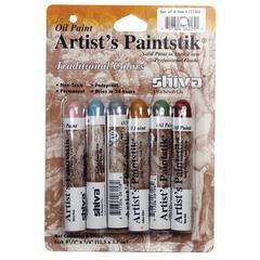 Shiva Paintstik Oil Paint Artist Color 6-Piece Pro Traditional Set