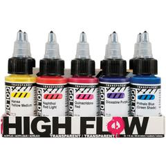 High Flow Acrylic 10-Color Transparent Set
