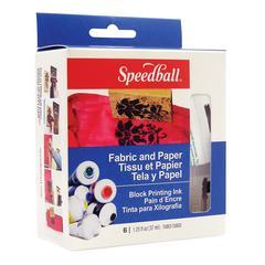 Speedball 75cc Fabric & Paper Block Printing Ink 6-Color Set