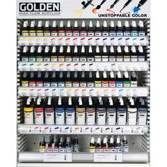 Golden High Flow Acrylic Mixed Display 62 Facing