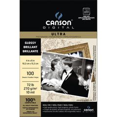 "Canson Digital 4"" x 6"" Ultra Range Inkjet Papers Glossy Sheets"