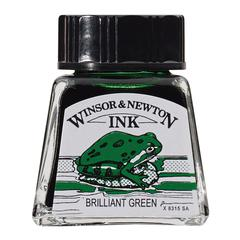Winsor & Newton Drawing Ink 14ml Brilliant Green