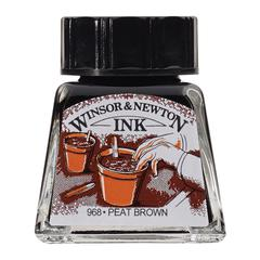 Winsor & Newton Drawing Ink 14ml Peat Brown