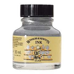 Winsor & Newton Drawing Ink 30ml Silver