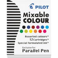 Pilot Parallel Pen Mixable Colour Refill 12-Pack Assorted Colors