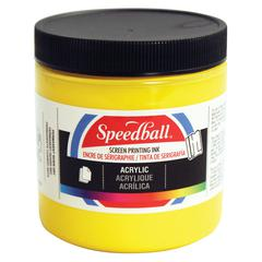 8 oz. Acrylic Screen Printing Ink Medium Yellow