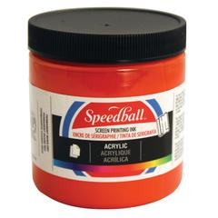 8 oz. Acrylic Screen Printing Ink Fire Red