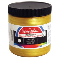8 oz. Acrylic Screen Printing Ink Gold