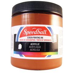 Speedball 8 oz. Acrylic Screen Printing Ink Brown