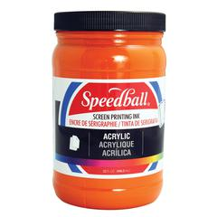 Speedball Acrylic Screen Printing Ink Orange 32oz.