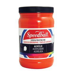 Acrylic Screen Printing Ink Fire Red 32oz.