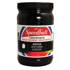 Speedball Acrylic Screen Printing Ink Black 32oz