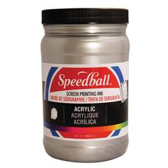Speedball Acrylic Screen Printing Ink Silver 32oz.
