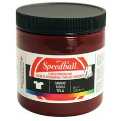 Speedball 8 oz. Fabric Screen Printing Ink Burgundy