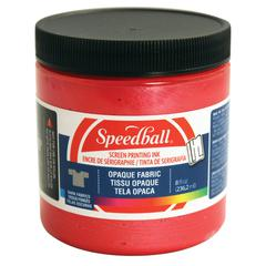 Speedball 8 oz. Opaque Fabric Screen Printing Ink Raspberry