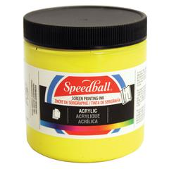 8 oz. Acrylic Screen Printing Ink Process Yellow