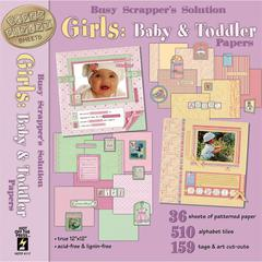 Busy Scrapper's Solution 12 x 12 Paper Pack Girls: Baby & Toddler