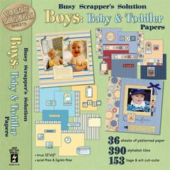 12 x 12 Busy Paper Pack Boys: Baby & Toddler
