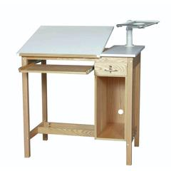Oak 30 x 48 1 Drawer Computer Table
