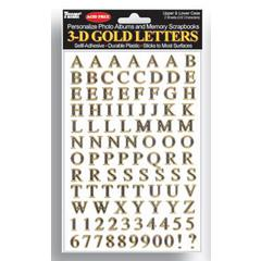 Pioneer Letter Stickers Gold