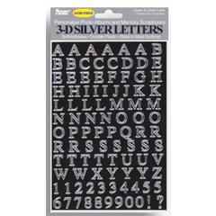 Pioneer Letter Stickers Silver