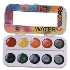 10-Color Watercolor Paint Set