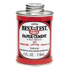 Best-Test Paper Cement with Brush in Cap 4oz