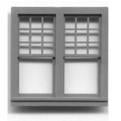 "1/4"" Scale Architectural Components Queen Anne double window set of 4"
