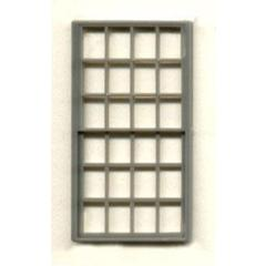 "1/4"" Scale Architectural Component 24-pane double hung window set of 3"