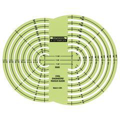 Rapidesign Civil Engineer Radius Guide Template