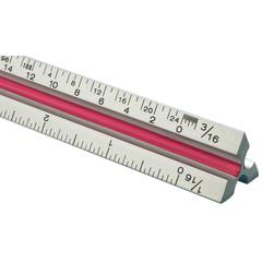 "Fairgate T Series 6"" Solid Aluminum Architect Triangular Scale"