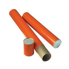 "Orange Fiberboard Tube 4"" I.D. x 25-1/2"""